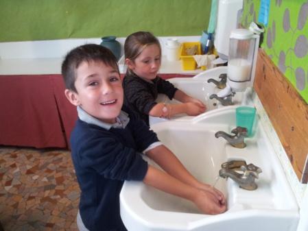Lavage des mains ...