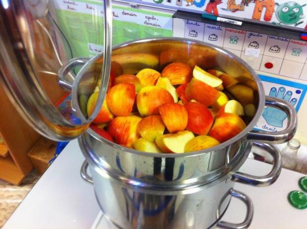 """Jus de pommes """"maison"""" chez les GS/CP"""