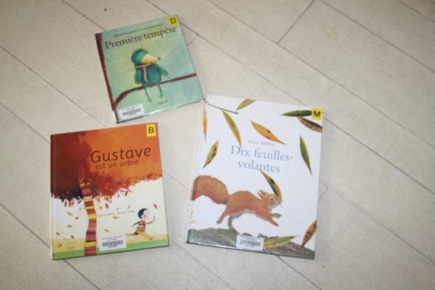 Martine de l'association des passeurs de livres est venue nous raconter des histoires sur l'automne.