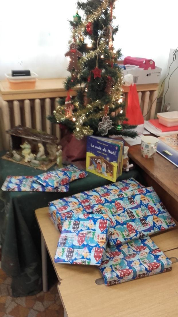 Le Père Noël est passé dans la classe.