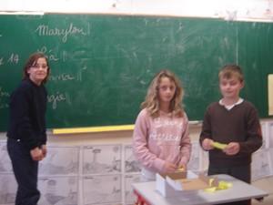 Election des délégués de notre classe