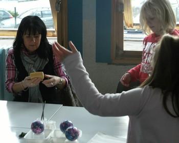 Fabrication de boules de Noël