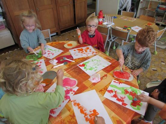Chouette : activité peinture !