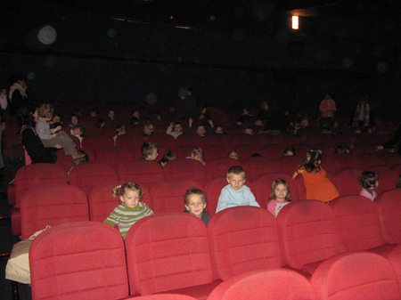 Séance de cinéma pour les plus jeunes