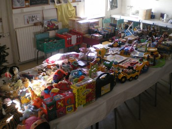 La distribution des jouets