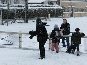 L'école sous la neige