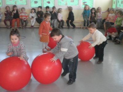 Les ballons rouges!