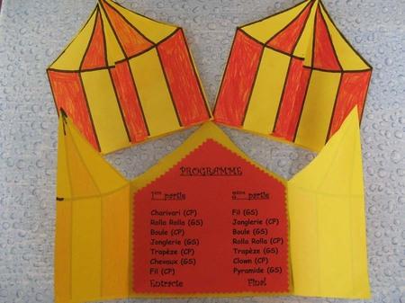 Préparatifs pour le spectacle de Cirque