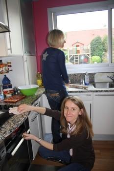 Fabrication de gâteaux.