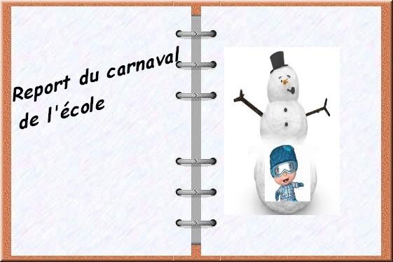 Report du carnaval