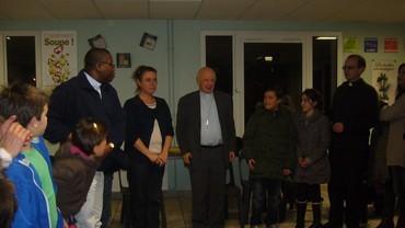 Visite de l'Evêque Monseigneur Boulanger