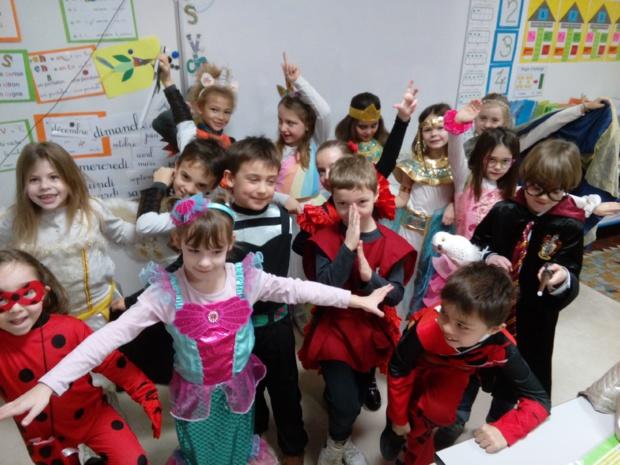 Le carnaval à l'école.