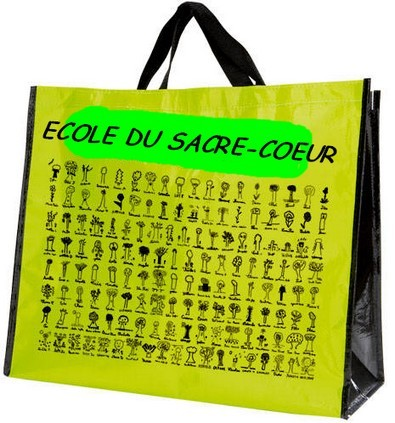 Distribution des sacs cabas