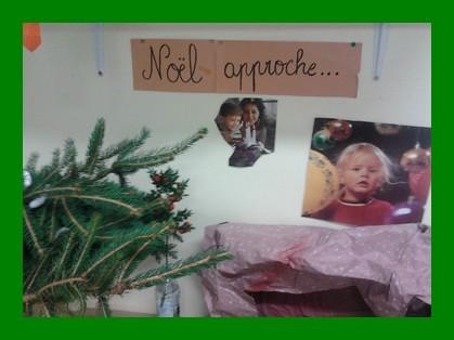 Préparation de Noël dans les classes