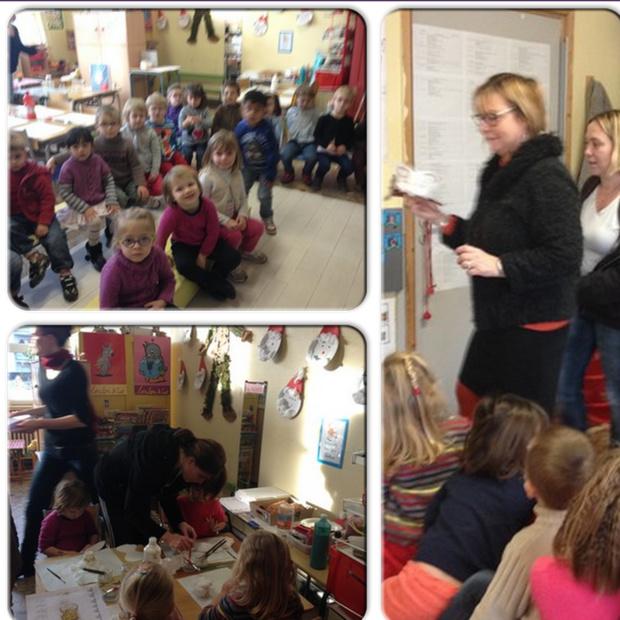 Bricolages avec les familles en classe de Petite et Moyenne Section