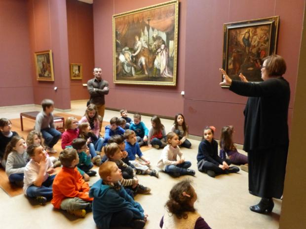 Les CE1 visitent les musée des Beaux Arts...