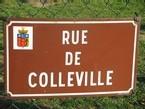 Ecole Sacre Coeur, Ouistreham, La rue de Colleville