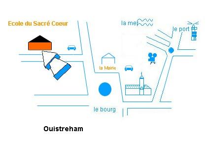 Ecole Sacre Coeur, Ouistreham, plan d'accès