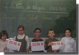 Ecole Sacré Coeur, Ouistreham, Election des délégués au CE1!