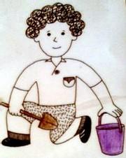 Ecole Sacré Coeur, Ouistreham, As tu un garçon avec une pelle bleue?