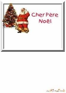 Ecole Sacré Coeur, Ouistreham, La lettre au Père Noël