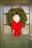 Ecole Sacré Coeur, Ouistreham, les couronnes pour le marché de Noël