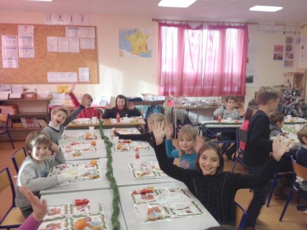Repas de Noël dans les classes