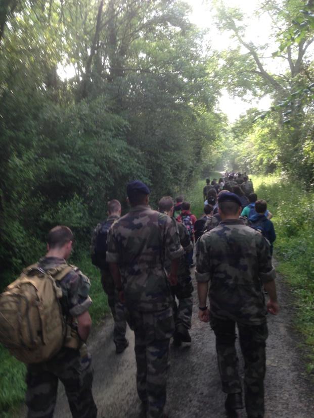 Les CM ont marché dans les pas des commandos.