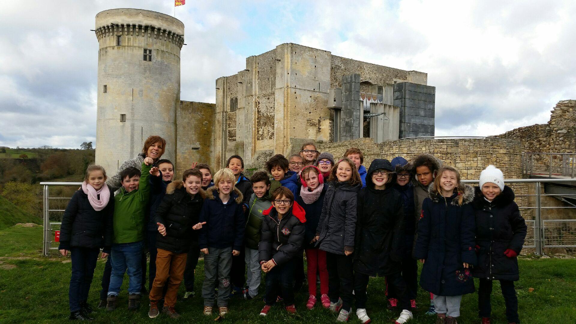 Visite des CE2 au château de Falaise
