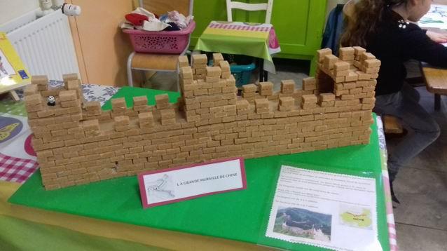 Une muraille de Chine en sucre !