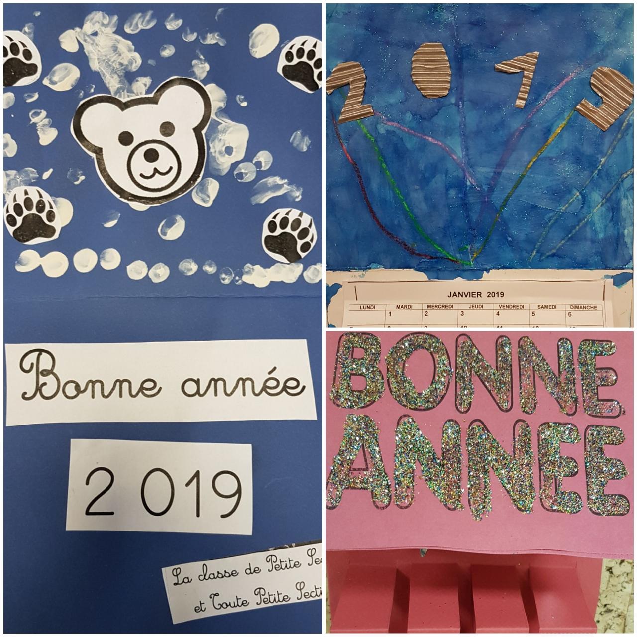Bonne année en maternelle !