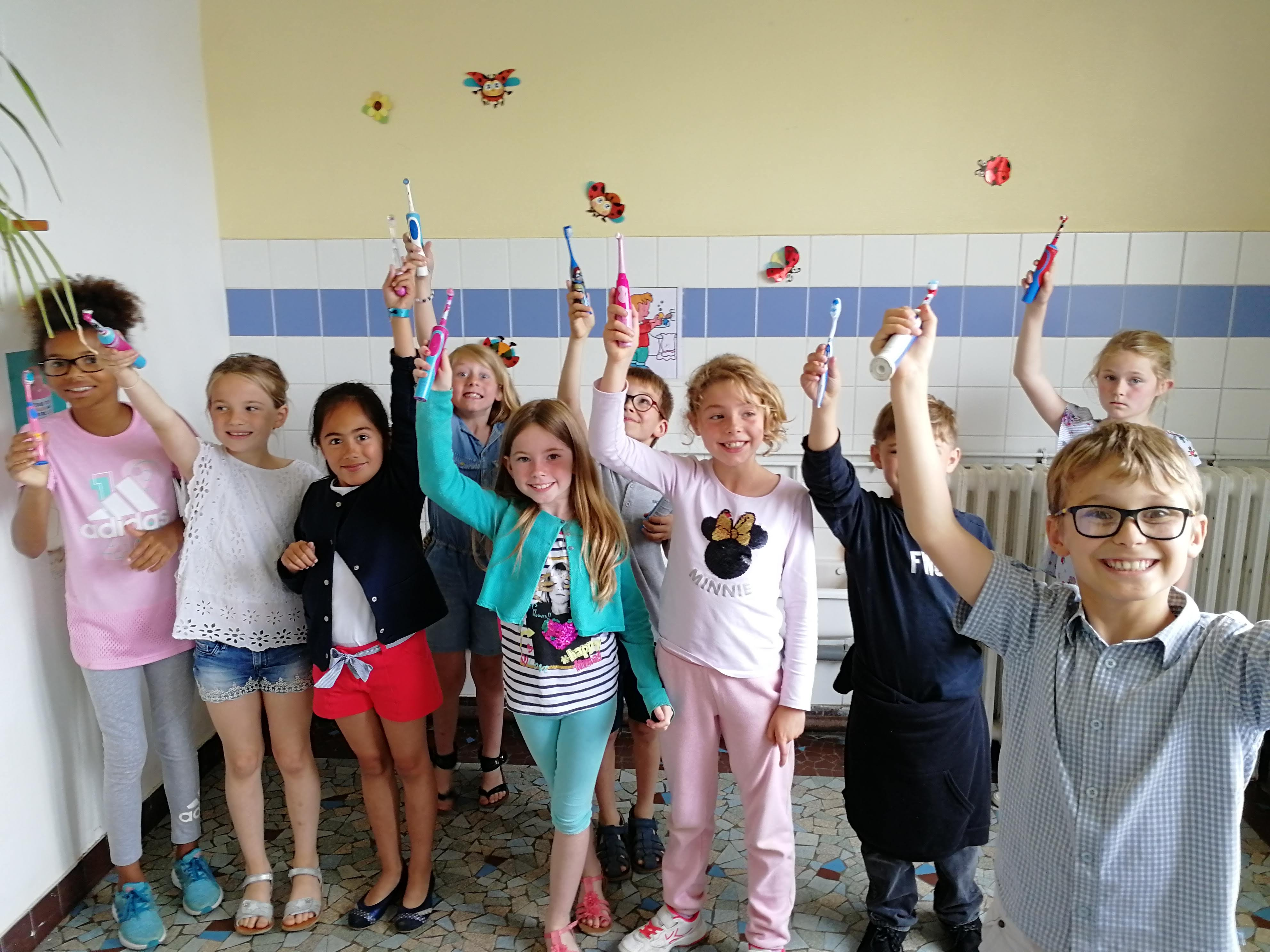 Brossage des dents à l'école