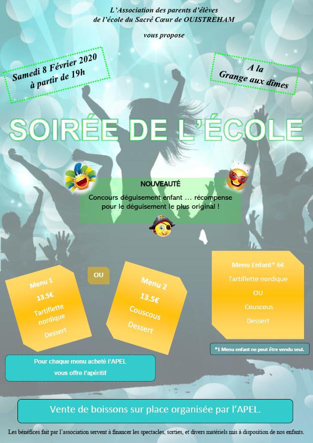 SOIRÉE DE L'ECOLE