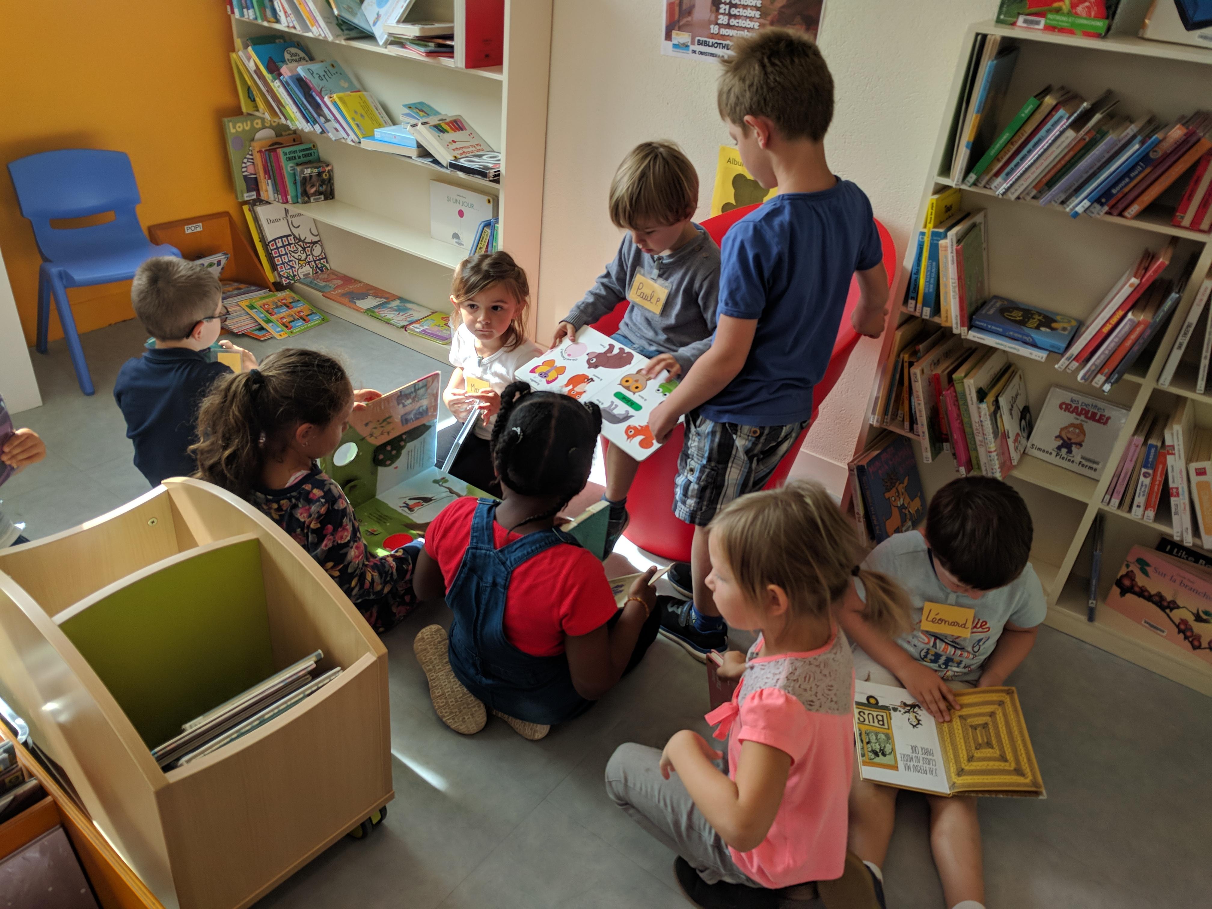 Visite à la bibliothèque des GS