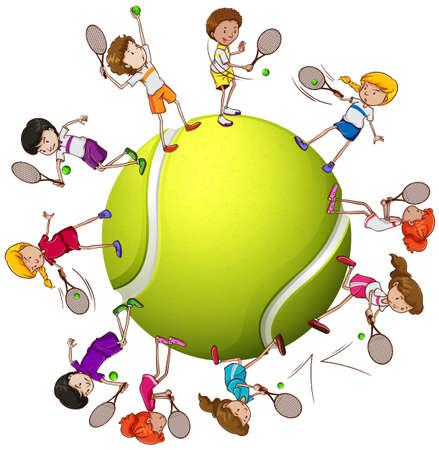 Mini-tennis en maternelle