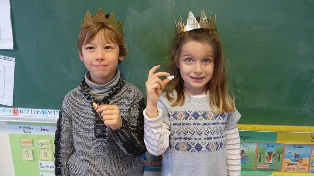 Le roi Quentin et la reine Fleur ont eu la fève !
