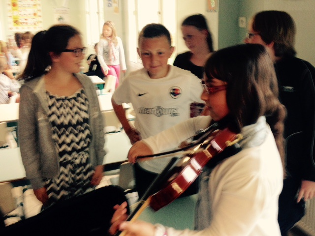 La fête de la musique à l'école.
