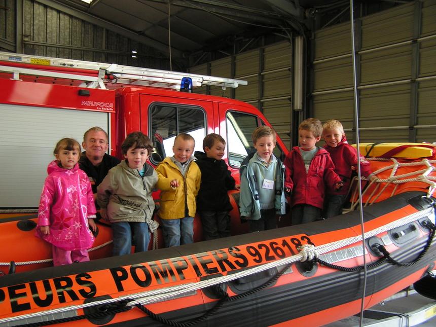 Visite de la caserne des pompiers.