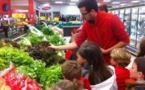 Visite des rayons frais de Carrefour market