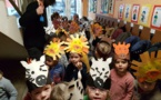 le défilé masqué des maternelles en primaire