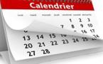 Infos calendrier