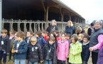 La classe de Moyenne-Grande Section à la ferme.