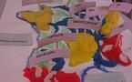 La carte de France en pâte à modeler