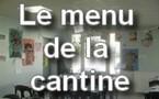 Ecole Sacré Coeur, Ouistreham, le menu de la cantine